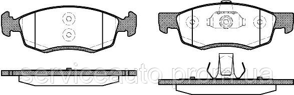 Тормозные колодки дисковые передние Remsa RE 0172.32/ПЕРЕДН DACIA LOGAN MCV 1.4-1.6 02.07- СИСТ=ATE