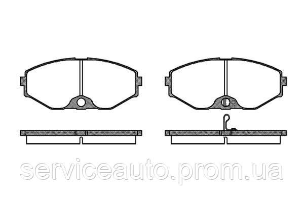 Тормозные колодки дисковые передние Remsa RE 0375.02/ПЕРЕДН INFINITI FY33,I30,J30,M30,Q45 3.0I,4.1I 32V