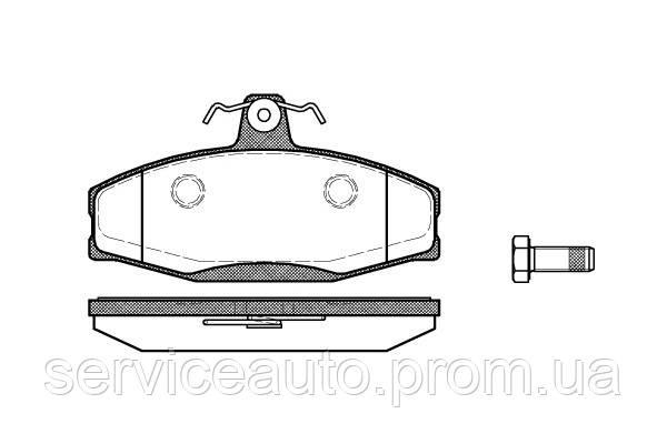 Тормозные колодки дисковые передние Remsa RE 0620.20/ПЕРЕДН FORD SIERRA 82-86,SKODA FAVORIT -94,VW CADDI II