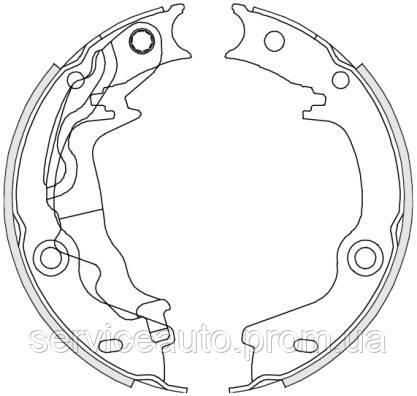 Тормозные колодки барабанные задние Remsa RE 4676.00/ЗАДН HYUNDAI ACCENT 05- KIA RIO 05-