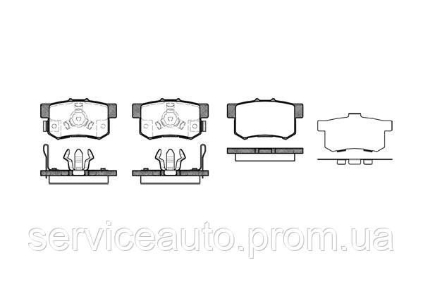 Тормозные колодки дисковые задние Remsa RE 0325.04/ЗАДН HONDA ACCORD IX 2.0I 2.4I 08-,CR-V II 2.0 2.2CTDI