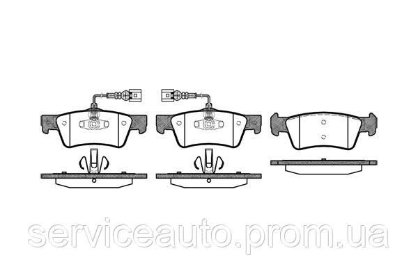 Тормозные колодки дисковые задние Remsa RE 1187.02/ЗАДН VW TOUAREG 2.5 R5 TDI 03-10