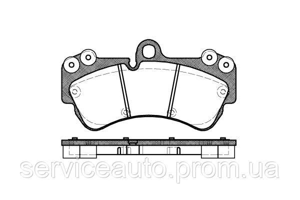 Тормозные колодки дисковые передние Remsa RE 0994.00/ПЕРЕДН R=17' VW TOUAREG 3.0-6.0 02-,PORSCH CAYENNE 02-