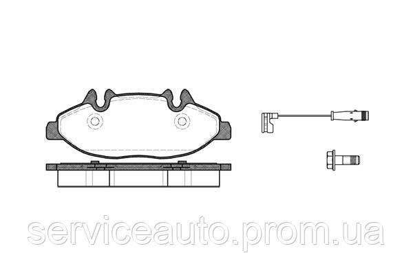Тормозные колодки дисковые передние Remsa RE 1109.02/ПЕРЕДН MERCEDES V-CLASS 03-. VITO 03-