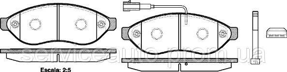 Тормозные колодки дисковые передние Remsa RE 1237.01/ПЕРЕДН CITROEN JUMPER 06-, FIAT DUCATO 06-, PEUGEOT BOXER