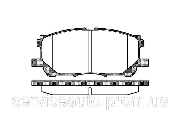 Тормозные колодки дисковые передние Remsa RE 1039.00/ПЕРЕДН LEXUS RX300 03-,RX350 06-,RX400 04-,RX400 FWD 05-