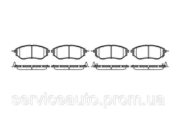 Тормозные колодки дисковые передние Remsa RE 1137.02/ПЕРЕДН SUBARU FORESTER 2013 -, LEGACY IV 2003 -, LEGACY V