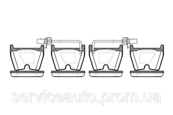 Тормозные колодки дисковые передние Remsa RE 0896.02/ПЕРЕДН AUDI A4 2005 -, A5 2010 -, R8 2007 -