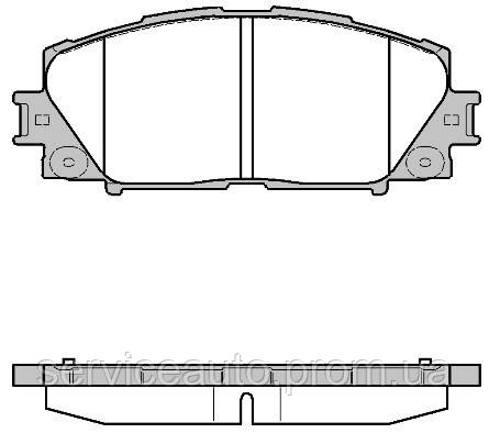 Тормозные колодки дисковые передние Remsa RE 1224.10/ПЕРЕДН LEXUS CT 200H 2011-,TOYOTA PRIUS 1.8HYBRID 09-