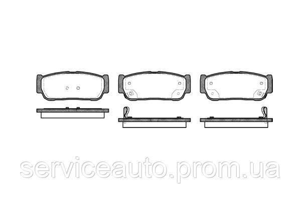 Тормозные колодки дисковые задние Remsa RE 1063.02/ЗАДН SSANG YONG KYRON 2.0,2.7 05-,REXTON 2.7XDI
