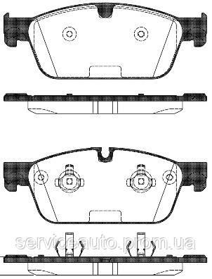Тормозные колодки дисковые передние Remsa RE 1511.00/ПЕРЕДН MB GL-CLASS GL500 2012-,M-CLASS ML500 2012-