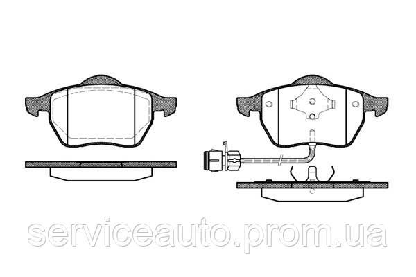 Тормозные колодки дисковые передние Remsa RE 0390.02/ПЕРЕДН AUDI 100 90-94. A6 94-97