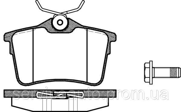 Тормозные колодки дисковые задние Remsa RE 1382.00/ЗАДН CITROEN BERLINGO 1.6 08-;PEUGEOT PARTNER 1.6 08-,308