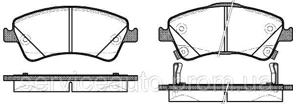 Тормозные колодки дисковые передние Remsa RE 1341.12/ПЕРЕДН TOYOTA AURIS 2.0D-4D 06-,2.2D-CAT 07-,AVENSIS