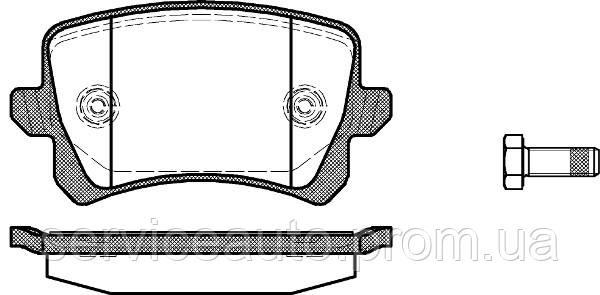 Тормозные колодки дисковые задние Remsa RE 1342.00/ЗАДН VW PASSAT 05-14. TIGUAN 07-. SHARAN 10-. SEAT ALHAMBRA
