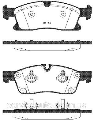 Тормозные колодки дисковые передние Remsa RE 1430.10/ПЕРЕДН MB G-CLASS 350 2012-, M-CLASS 2011-