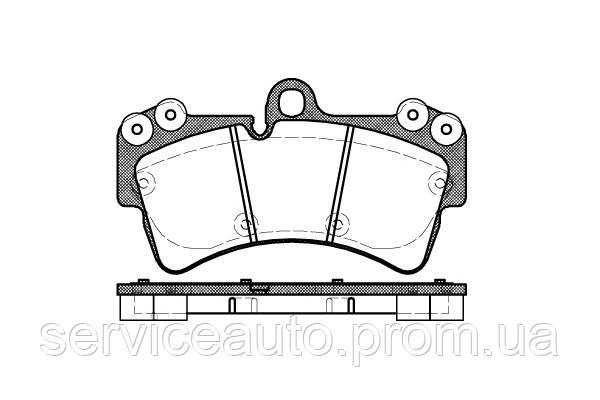 Тормозные колодки дисковые передние Remsa RE 0995.00/ПЕРЕДН AUDI Q7 06-15. VW TOUAREG 02-10. PORSCHE CAYENNE