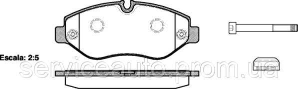 Тормозные колодки дисковые передние Remsa RE 1245.00/ПЕРЕДН MERCEDES SPRINTER 06-, VW CRAFTER 2.5 TDI 06-