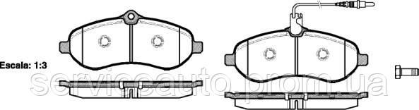 Тормозные колодки дисковые передние Remsa RE 1292.01/ПЕРЕДН CITROEN JUMPY II 1.6 HDI, 2.0 HDI 2007-, FIAT