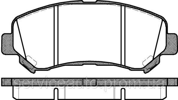Тормозные колодки дисковые передние Remsa RE 1318.00/ПЕРЕДН NISSAN QASHQAI 07-, X-TRAIL 07-, RENAULT KOLEOS