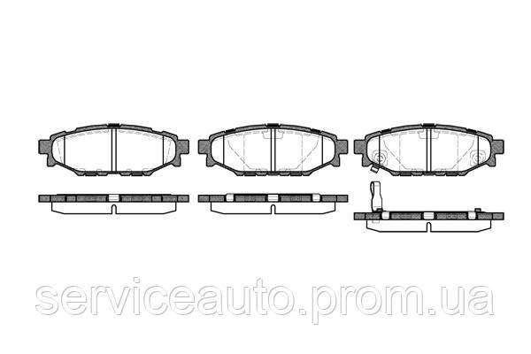 Тормозные колодки дисковые задние Remsa RE 1136.01/ЗАДН SUBARU LEGACY (СЕДАН), FORESTER, IMPRESA 2003-