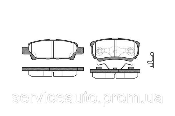 Тормозные колодки дисковые задние Remsa RE 1051.02/ЗАДН MITSUBISHI OUTLANDER 2.0 2.4 4WD 03-, LANCER 1.3-2.0