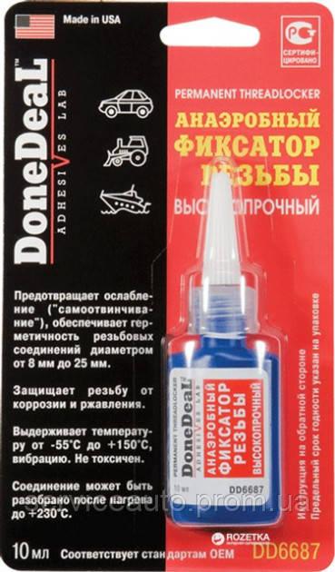 Фиксатор резьбы красный, не разборный DoneDeal (DD6687)