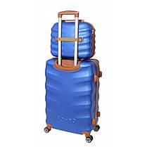 Комплект чемодан + кейс Bonro Next (невеликий) синій, фото 2