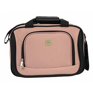 Комплект чемодан + сумка Bonro Best середній рожевий, фото 2