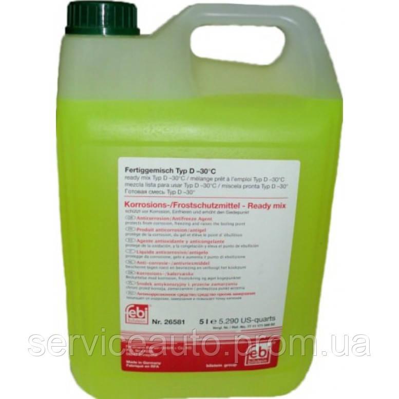 Антифриз Febi зелёный концентрат 5L (26581)