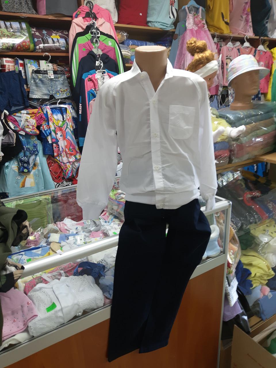 Біла Сорочка для хлопчика Школа р. 122 134 140