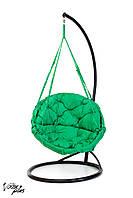 Подвесное Кресло качеля-гамак с круглой подушкой Kospa Зеленый (150 кг)