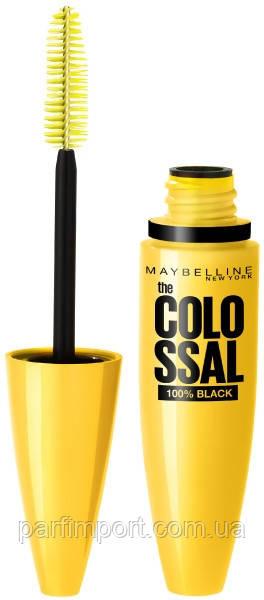MAYBELLINE Colossal Volum 100% Black 10,7 ml Туш для вій (оригінал оригінал Італія)