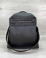 Сумка-рюкзак женская молодежная черная маленькая трансформер на плечо 463, фото 1