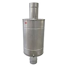 Труба-бак ø110 мм 30 л 1 мм AISI 321/304 Stalar для нагрева воды дымохода сауны бани из нержавеющей стали