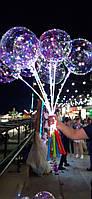 Воздушный светящиеся шар с подсветкой на палочке бобо bobo. Светодиодный шар