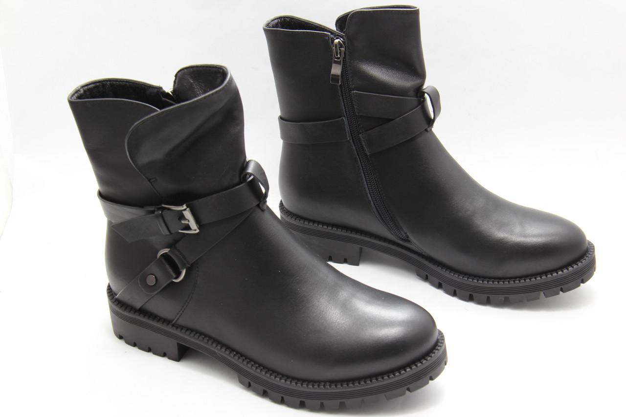Кожаные женские ботинки низкий ход Basyni 725