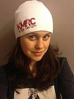 Вязаные шапки с вышивкой логотипа
