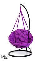 Подвесное Кресло качеля-гамак с круглой подушкой Kospa Фиолетовый (200 кг)