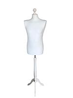 Манекен мужской в белом чехле размер 50/52