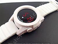 Электронные часы Adidas LED TOUCH WATCH 013475 белые с красной подсветкой