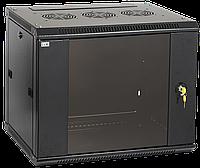 """Шкаф настенный 19"""" LInea W, 12U, 600x450 мм, стеклянная передняя дверь, черный, иек [lwr5-12u64-gf]"""