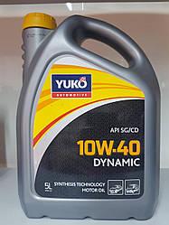 Моторное масло в двигатель 5 литров YUKO DYNAMIC 10W-40
