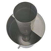 Труба-бак ø130 мм 50 л 1 мм AISI 321/304 Stalar для нагрева воды дымохода сауны бани из нержавеющей стали, фото 2