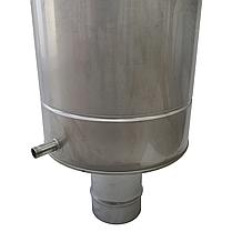 Труба-бак ø130 мм 50 л 1 мм AISI 321/304 Stalar для нагрева воды дымохода сауны бани из нержавеющей стали, фото 3