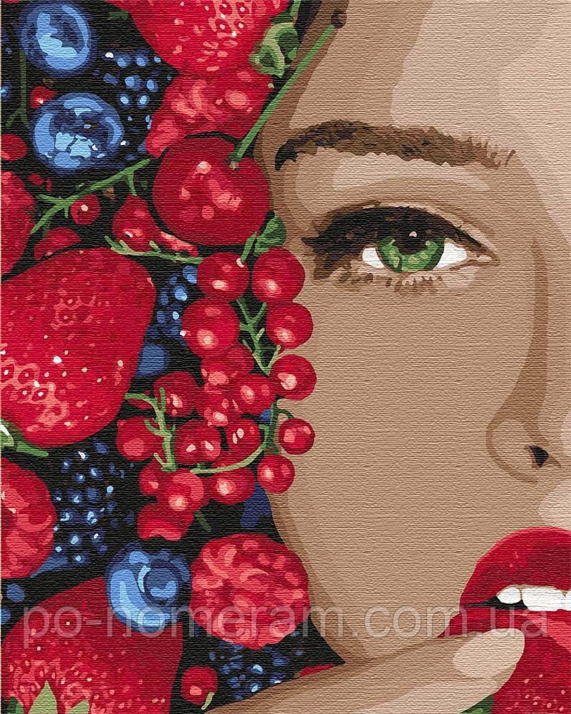 Картина по номерам Идейка Сочные ягодки (KH4739) 40 х 50 см