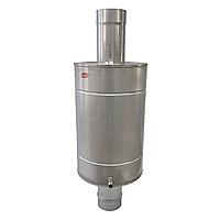 Труба-бак ø130 мм 70 л 1 мм AISI 321/304 Stalar для нагрева воды дымохода сауны бани из нержавеющей стали