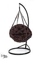 Подвесное Кресло качеля-гамак с круглой подушкой Kospa Коричневый (200 кг)