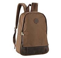Мужской рюкзак из парусины и кожи