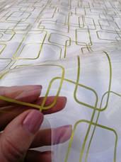 М'яке скло Скатертину з лазерним малюнком Soft Glass 2.0х0.8м товщина 1.5 мм Золотисті прямокутники, фото 2